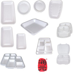 PS EPS de Plaat van het Voedsel van het Schuim van het Polystyreen/Vacuüm het Vormen zich van de Doos van de Plastic Container Thermocol/van het Snelle Voedsel Machine