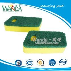 Espuma de alta densidad ricos Scourer esponja exfoliante esponja de cocina con estropajos
