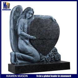 Barato Antique chorando Angel Bahama Headstones Granito azul com coração