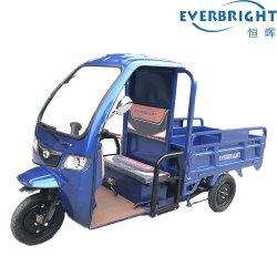 Hoge Macht 3 de Elektrische Driewieler van de Lading van het Wiel 60V1000W met Cabine