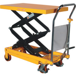 Portable mesa elevadora de tijera hidráulico manual carretilla