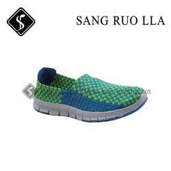 Chaussures en tricot avec MD, tissé de chaussures, Soft Chaussures pour dame, usine de chaussures de sport