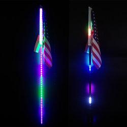 Neues der geräuchertes Schwarzes Bluetooth des SteuerUTV Großhandelslicht Zubehör-Lenkbremsen-Licht RGB-Peitsche-LED