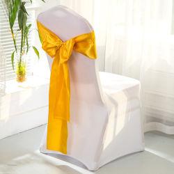 Raso baratos atado Pre boda guillotinas de silla de oro rosa