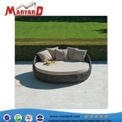 Hôtel Jardin extérieur professionnel lit de repos en osier profilé en aluminium de chaises en rotin Sun Chaise de Salon