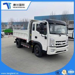 4-6tons/1.5 줄 잠 오두막 덤프 또는 화물 자동차 또는 쓰레기꾼 또는 Weichai 엔진을%s 가진 의무 상업용 차량 (LCV) /Tip/Tipping/Tipper 가벼운 트럭을 내버리기