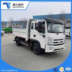 4-6tons/1.5列のスリープ小屋のダンプか貨物自動車またはダンプまたは商用車(LCV)の/Tip/Tipping/Tipperの軽量トラックをダンプすること