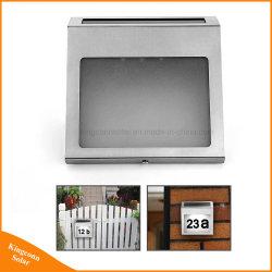 Eclairage extérieur LED le numéro de maison la lumière solaire Doorplate lampe d'accueil