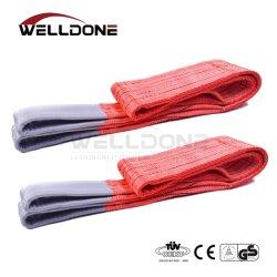 5 тонны 5m или OEM-длина 150 мм ширина подъем дешевые цены 5t лямке ремня с помощью строп коэффициент безопасности красного цвета 8: 1 7 1 6 1