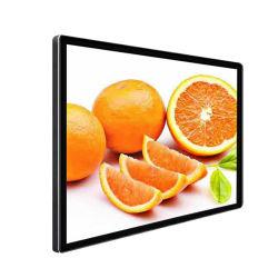 Pantalla LCD en caliente, la señalización digital interactiva de 32-65 pulgadas, pantalla LCD táctil de montaje en pared con el metal cepillado Color negro.