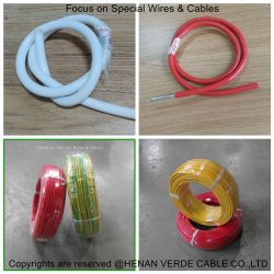 Aislamiento de PVC flexible la construcción de casa el cable eléctrico cable eléctrico de Teflón de silicona Thhn