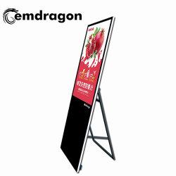 55 pouces LCD Portable Digital Signage Panneau d'affichage de la publicité vidéo LCD Montage mural Mur avec support de montage avant mur vidéo de la porte ouverte de rack 3G outdoor display