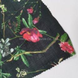Tessuto ramie Digital Print in lino tessuto di cotone