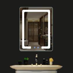 يجعل [هيغقوليتي] زخرفيّة فوق يرتدي [لد] مرآة مع ضوء لأنّ غرفة حمّام في فندق