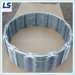 Hot-Dipped galvanizado recubierto de PVC /Razor Wire /alambre plegable