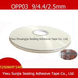 OPP Cinta Autoadhesiva transparente cinta doble cara cintas, cintas de sellado de la bolsa de PE Courier Bag (9*3*4,5 mm)
