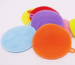 На складе более дешевую цену силиконовая щетка скруббер губки щетки для мытья посуды на кухне
