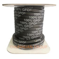 El color negro 100% Gfo trenzada de fibra de sellado de embalaje tamaño 12*12mm de longitud en rollos