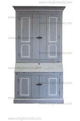 أثر قديم أثاث لازم [نورديك] كلاسيكيّة قديمة رماديّ ويعيد [وهيت لين] شجر تنّوب خشب أربعة أبواب كتاب خزانة