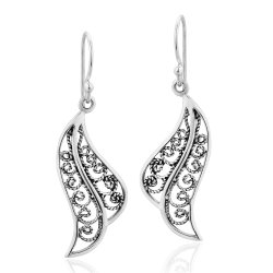 Mobilier de style ancien 925 Sterling Silver Earrings Bijoux Bijoux de mode