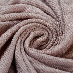 Lino/tejido viscosa hilo teñido Plain tejido textil