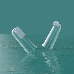 Cepillo de dientes para niños de silicona bebé Cepillo de Dientes Dedo Pet Cepillo de limpieza