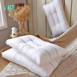 Bon marché de gros 233t vers le bas la preuve de tissu de coton blanc de remplissage en microfibre Hôtel 5 Étoiles oreiller