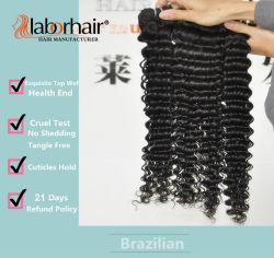 Unbearbeitete Haarverlängerung für Labour-Labour-Haar 105 g (+/-2 g) /Bundle Natürliche brasilianische Virgin Hair Deep Curly 100 % menschliche Haarweben Grad 9A