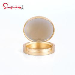 Fabricante durante todo o luxo de ouro 59mm para pó compacto elegante pressionado em pó Embalagem de cosméticos