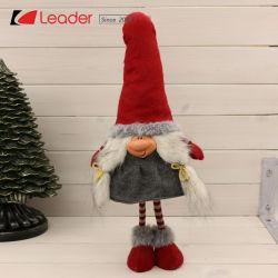 Elegante de alta calidad de la Navidad de tela de color marrón oscuro sueco Gnome elementos para la decoración del hogar y regalos, personalizar tus propios muñecos de peluche nórdico de Navidad