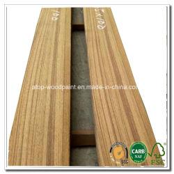 Para cortar en rodajas de fábrica de teca de Birmania Myanmar cuarto de cortar la chapa de madera contrachapada muebles chapa cara