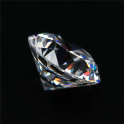2018 Venda Quente Branco Pedra Moissanite soltas, diamante sintético para Anel O