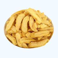 Comercio al por mayor bocadillos saludables Venta caliente Calidad Premium liofilizado de melocotón en rodajas y fichas de color amarillo