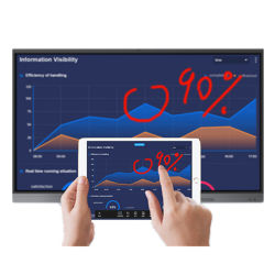 "75 "" LED는 학교 교육을%s 1 디지털 까만 Smartboard에서 다중 접촉을 전부 조금씩 움직인다"