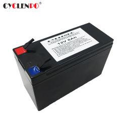 Batteria di volt 6ah LiFePO4 dello ione 12 del Li del litio di prezzi di fabbrica per i motorini elettrici e le illuminazione solari