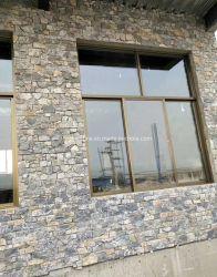 Künstlicher Marmor oder natürlicher Steinschiefer-Kultur-Stein für die Wand-Umhüllung dekorativ