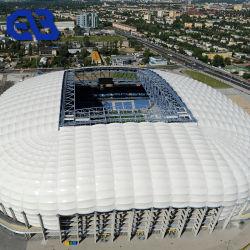 屋上の屋根ふきのテントのための膜の構造の建築材料の防水シートの防水膜PVC上塗を施してあるファブリック