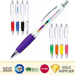 La Chine fabricant sans heurts en plastique promotionnels personnalisés stylo à bille en acier inoxydable en métal couleur aluminium marque de luxe d'impression mécanique stylo à bille avec logo