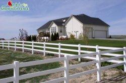 La Chine Les courses de chevaux Cheval clôtures PVC en vinyle blanc