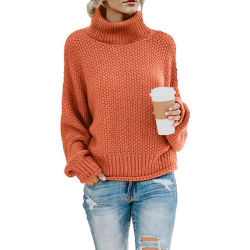 Зимние стильный элегантный моды женщин твердых Turtleneck Pullovers дамы перемычки свитер