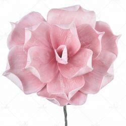 DIY Caixa de cabeças de espuma PE procura real aumentou de marfim Flores artificiais