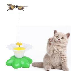電気回転多彩な蝶犬猫のおもちゃペット製品