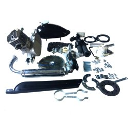 80cc moto juegos de motor 2 tiempos Motor de Gas Gas pintura negra de bricolaje Motor para bicicleta motorizada