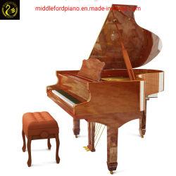 Piano Middleford em madeira de nogueira Piano de Cauda Gp-152cm com madeira maciça fezes de piano. Personalizar a cor