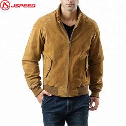 Winter Windsurfbestendige Leather Coat Suede Bomberjack Voor Heren