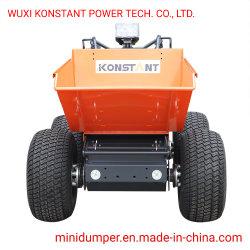 4WD Electric Mini Dumper com pneu de grama