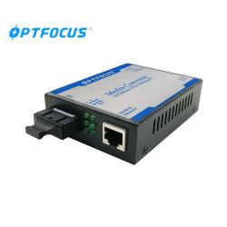 Ottico di fibra ottico doppio di prezzi 100m 1000m del convertitore di media della fibra MP 10/100/1000m ai convertitori di media RJ45