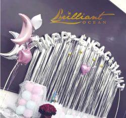 Разнообразные цвета металлическая сетка шторки сетку челкой Tinsel шторками оформлены на день рождения