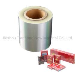 O material de embalagem BOPP Fabricante Filme claro filme de PVC para Cigarro/Embalagem de Medicina