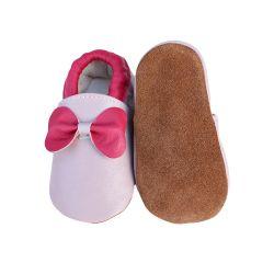 En primer lugar de cuero zapatos de bebé Walker suela suave Cuna Boy Sheepskin Non-Slip zapatos niño zapatos Bebé
